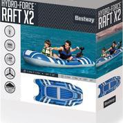 Perahu Karet Bestway Hydro Force Raft X2 65060 Muat 2 Orang Harga Murah (13585777) di Kota Jakarta Pusat