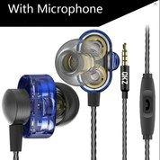 QKZ DM8 Earphones Mini Dual Driver Extra Bass Sound With Microphone