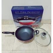 Panci Wok Pan Amerika Penggorengan Teflon Anti Lengket Ukuran 28cm
