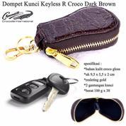 Gantungan Kunci Dompet Kunci Keyless R Croco Brown (13687559) di Kota Jakarta Timur