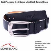 Ikat Pinggang Impor Kulit Belt Gesper Pria Super Black (13691789) di Kota Jakarta Timur