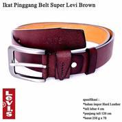 Ikat Pinggang Impor Kulit Belt Gesper Pria Super Brown (13691891) di Kota Jakarta Timur