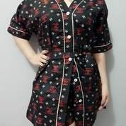 Piyama Dewasa Motif Model Kimono