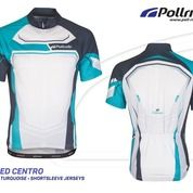 JERSEY SEPEDA POL SPEED CENTRO BLACK TORQUISE SHORT SLEEVES