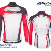 JERSEY SEPEDA POL SPEED CENTRO BLACK RED LONG SLEEVES (13789023) di Kota Bandung