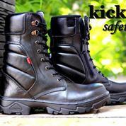 Sepatu Dinas PDH PDL TNI Polri Polisi Security Sepatu Safety Boots Kickers Sepatu Touring Bikers