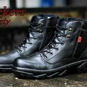 Sepatu Safety Boots Kickers Kulit Sepatu Kerja Proyek Lapangan Adventure PDH PDL Murah (13794003) di Kota Bandung