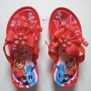 Sandal Jepit Karet Cewek Sendal Anak Frozen Perempuan Wanita Bunga Cantik (13799525) di Kota Tangerang