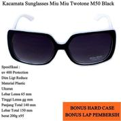 Promo Kacamata Sunglasses Miu Miu Twotone M50 Full Set - Black (13855221) di Kota Jakarta Timur