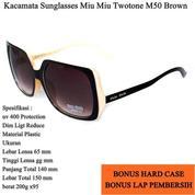 Promo Kacamata Sunglasses Miu Miu Twotone M50 Full Set - Brown (13855281) di Kota Jakarta Timur