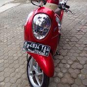 Motor Honda Scoopy Merah 2014