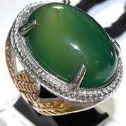 Green Chalcedony Pict Bent Pararrel Kode 106 (13955989) di Kota Bekasi