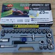 Kunci Sok ATS Pro Socket Wrench Set 25pc