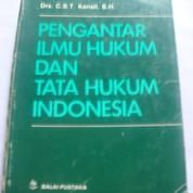Pengantar Ilmu Hukum Dan Tata Hukum Indonesia (14095565) di Kota Bandung