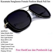 Kacamata Wanita Sunglasses Female Fashion Full Set Black (14096977) di Kota Jakarta Timur
