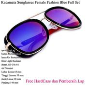 Kacamata Wanita Sunglasses Female Fashion Full Set Blue