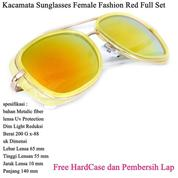 Kacamata Wanita Sunglasses Female Fashion Full Set Red (14097071) di Kota Jakarta Timur