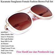 Kacamata Wanita Sunglasses Female Fashion Full Set Brown (14097209) di Kota Jakarta Timur