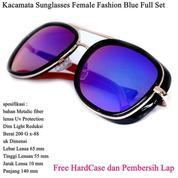 Kacamata Sunglasses Female Fashion Full Set Blue (14100335) di Kota Jakarta Pusat