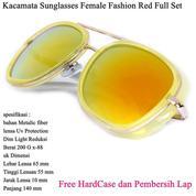 Kacamata Sunglasses Female Fashion Full Set Red (14100359) di Kota Jakarta Pusat