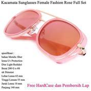 Kacamata Sunglasses Female Fashion Full Set Rose (14100367) di Kota Jakarta Pusat