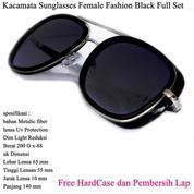 Kacamata Sunglasses Female Fashion Full Set Black (14100583) di Kota Jakarta Pusat