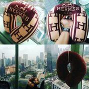 Bantal Leher Kepala Interior Mobil Brand Merk Trkenal Hermes Paris SNI (14121925) di Kota Jakarta Selatan