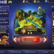 Akun Mobile Legends Tier Legend III SL Member CN ON