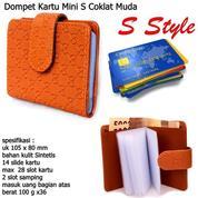 Dompet Mini Kartu S Style Coklat Muda