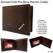 Dompet Pria BVS Kulit Terbaru Best Seller Marmer Coklat