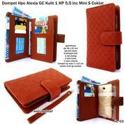 Free Ongkir Dompet Wanita Kulit Emboss Hpo 1 Hp Alexia GC Mini S Coklat Best Seller