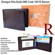 Dompet Pria Monblank Kulit Code 349 R Brown (14569803) di Kota Jakarta Pusat
