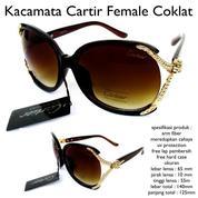 Obral Kacamata Sunglasses Cartir Female Coklat Fullset