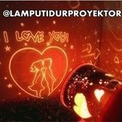 Lampu Tidur Proyektor Star Master Love Couple Sweetheart (Musik + Berputar)
