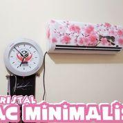 AC Minimalis 17 Watt 1pk Bunga Pink