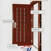Pintu Baja (Steel Door) Motif Kayu