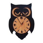 Jam Dinding Karakter Cym Model Owl Black