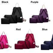 Tas Fashion 3 Pcs Nylon Backpack
