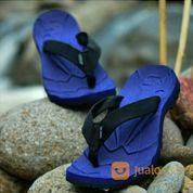 Sandal Gunung Suzuran Flip Flop Mr1 Navy Blue W Black
