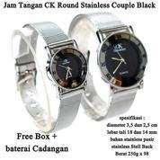 Jam Tangan Pasangan Ck Stainless Pasir Round Black (14827841) di Kota Jakarta Timur