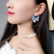 Anting Retro Korea B2 Simetris Butterfly Drop Earring Anting Kupu