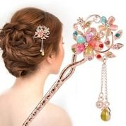 Retro Vintage Bridal Wedding Gift Hairpin Wanita Cantik Pin Rambut A2