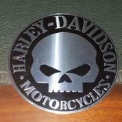 Emblem Timbul Skull Harley Aluminium (14862209) di Kota Bogor