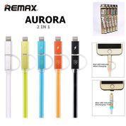 KABEL DATA REMAX AURORA 2 IN 1 MICRO & IPHONE