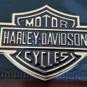 Emblem Gold Metal Harley Logo.(10.7x7.6) (14899165) di Kota Bogor