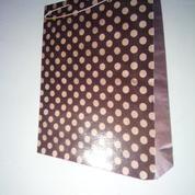 Paper Bag Polkadot Coklat (14956953) di Kota Surabaya