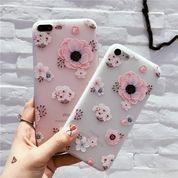 Flower Case Silicone For Iphone 7 Plus (15170893) di Kota Jakarta Pusat