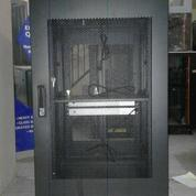 "Rack Server Surabaya - Close Rack 19"" 20U Depth 900mm Pintu Lubang-Lubang (15455733) di Kota Surabaya"