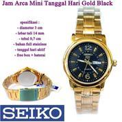 Jam Tangan SEKO Arca Mini Tanggal Hari Gold Black (15483529) di Kota Jakarta Pusat