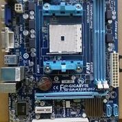 Mainboard FM1 DDR3 Merk Gigaybte Lengkap Backpanel